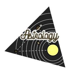 Color vintage astrology emblem vector