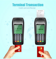 Credit bank card payment receit set vector