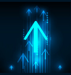 abstract blue arrows technology communicate vector image
