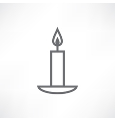 White candle vector
