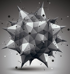 3d mesh contemporary style abstract object origami vector