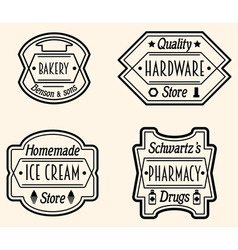 Set of vintage badge or logo design elements vector