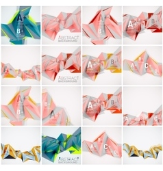 Set of triangle geometric 3d forms modern info vector