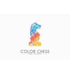 Chess horse ogo chess logo horse logo creative vector