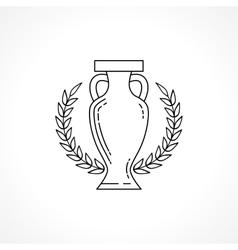 Winner cup line vector