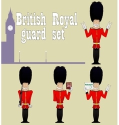 Beefeater guardians set vector
