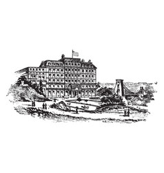 Clifton down hotel vintage vector