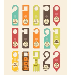 do not disturb signs vector image