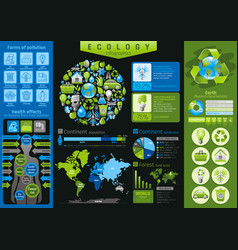 Ecological icon set infographics diagram chart vector