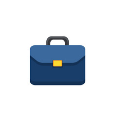 Flat icon of briefcase vector