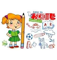 Funny doodles - Back to school vector image