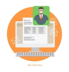 Human resources recruiting sign vector