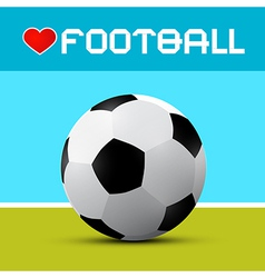 Love football theme on blue and green background vector