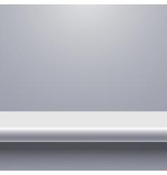 modern shelf background vector image vector image