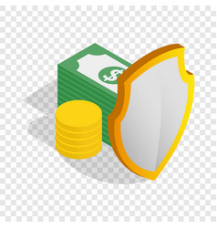 money savings isometric icon vector image
