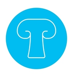 Mushroom line icon vector image