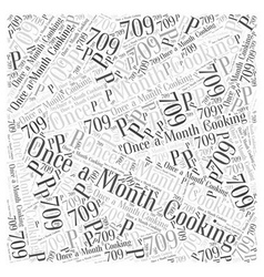 Once a month cooking word cloud concept vector