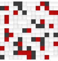 Red black and white mosaic vector image vector image