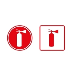 Red fire extinguishe vector image