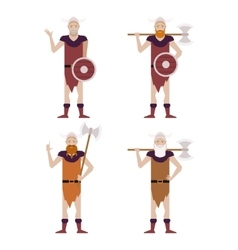 Set of Barbarians vector image vector image