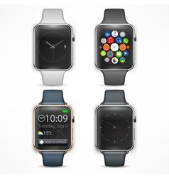 Set of smart watch vector image vector image