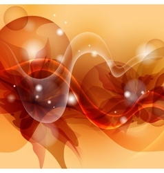 Stylized Orange Flower Background vector image