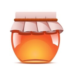 Sweet honey jar vector