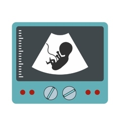 Ultrasound fetus icon vector