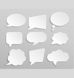 white blank retro speech bubbles isolated vector image vector image
