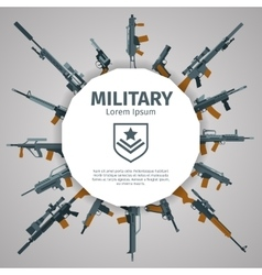 Weapons label guns badge with text vector image