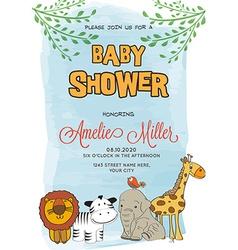 Lovely baby shower card vector