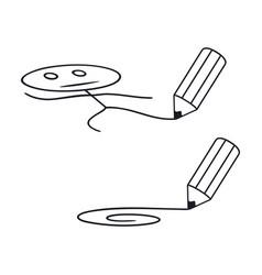 pencil draws vector image