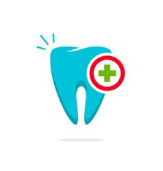 Medical tooth logo  dental logotype idea vector