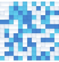 White and blue mosaic seamless pattern vector image
