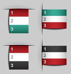 Blank attached paper fictional flags vector