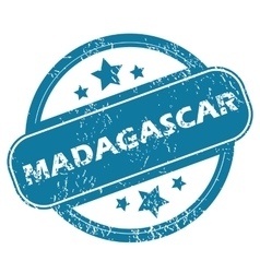 Madagascar round stamp vector