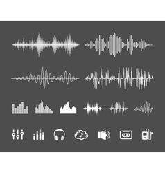 Sound waveforms vector image