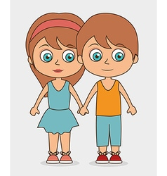 Kids friends design vector image