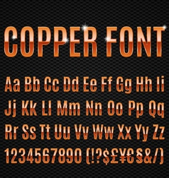 Copper font vector image