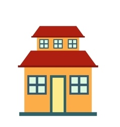 Cottage with a mansard icon vector