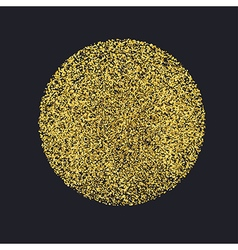 Circle with gold glitter particles on black vector