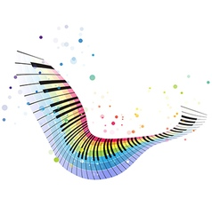 Flying rainbow piano vector
