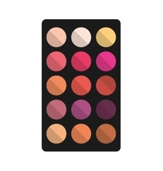 Shadows colors set makeup product isolated icon vector