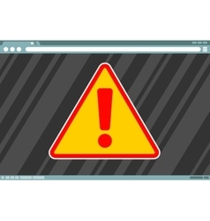 Attention sign in frame on screen vector
