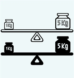 Balancing weight vector image vector image