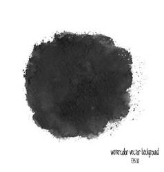 Black watercolor circle vector