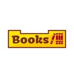 books shop signboard vector image