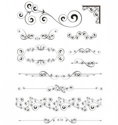 calligraphic ornaments vector image