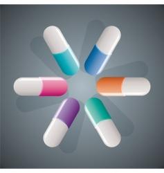 capsules vector image