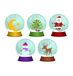 Christmas Snow Globes vector image vector image